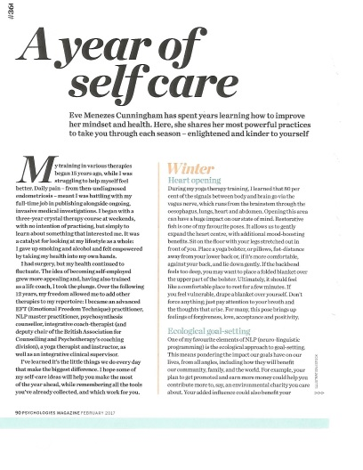 Year of self care feature for Psychologies
