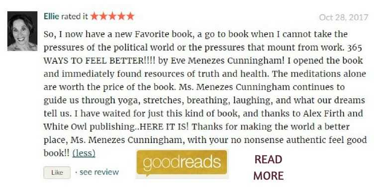 Goodreads review for 365 Ways to Feel Better