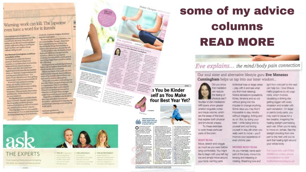 advice columns by Eve Menezes Cunningham