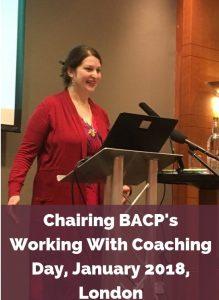 Eve Menezes Cunningham chairing BACP Coaching day