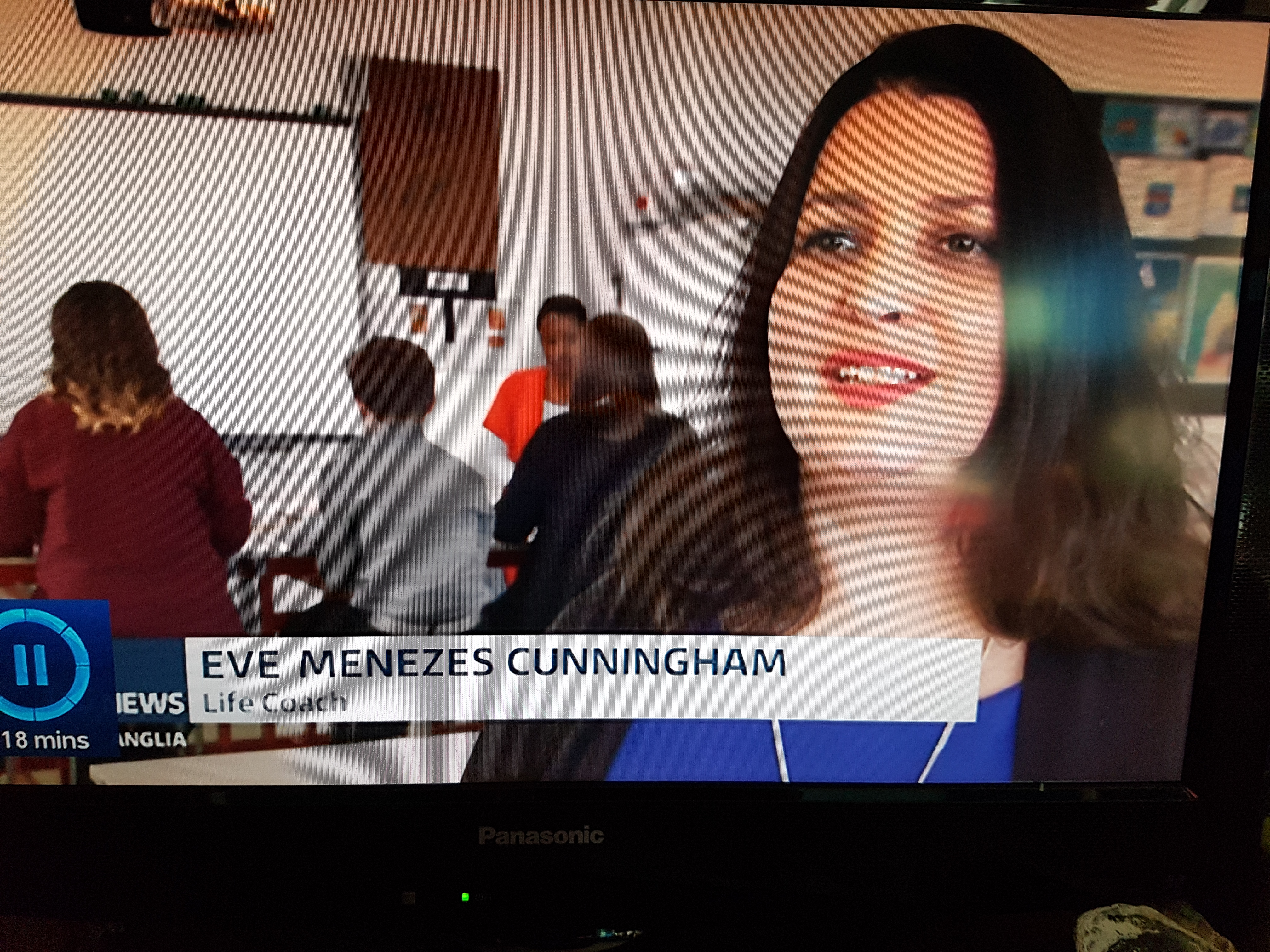 Eve Menezes Cunningham life coach ITV News vision boards