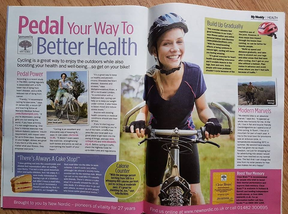 Pedal your way to better health cycling feature for My Weekly Eve Menezes Cunningham