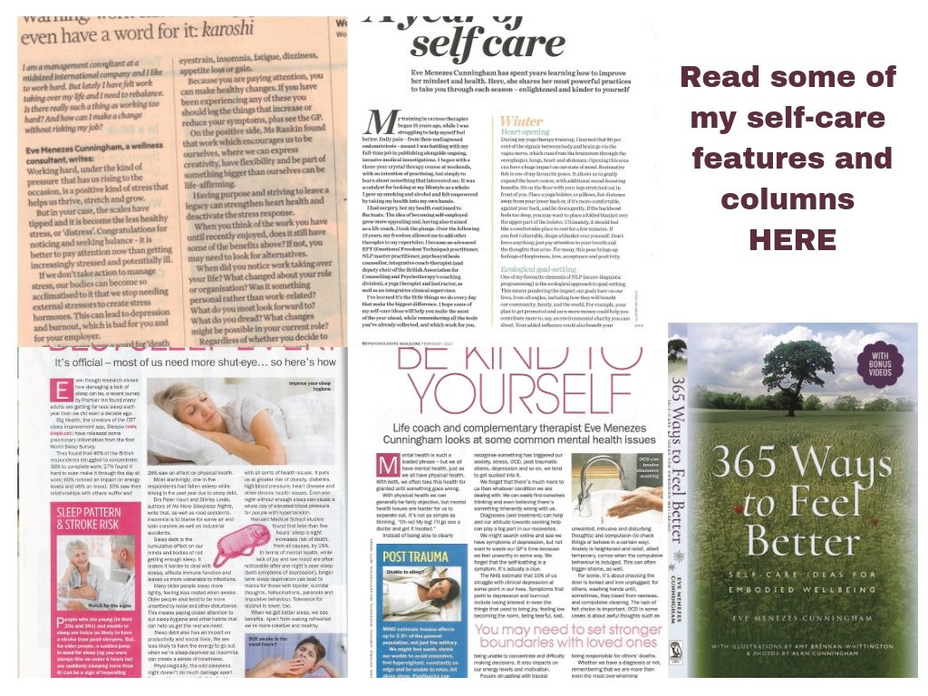 self care features by Eve Menezes Cunningham