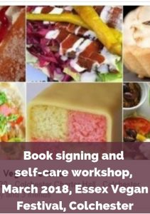 Eve Menezes Cunningham 365 Ways to Feel Better book signing and self care workshop Essex Vegan Festival Colchester