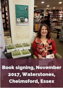 Eve Menezes Cunningham 365 Ways to Feel Better book signing Waterstones Chelmsford Essex