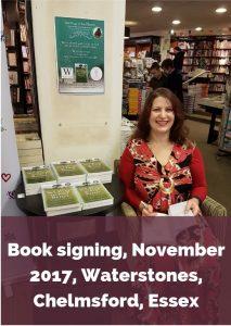 Eve Menezes Cunningham 365 Ways to Feel Better book signing Waterstones Chelmsford Essex