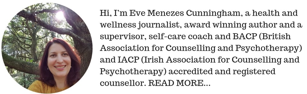 Eve Menezes Cunningham supervisor, self care coach and BACP and IACP accredited psychosynthesis counsellor
