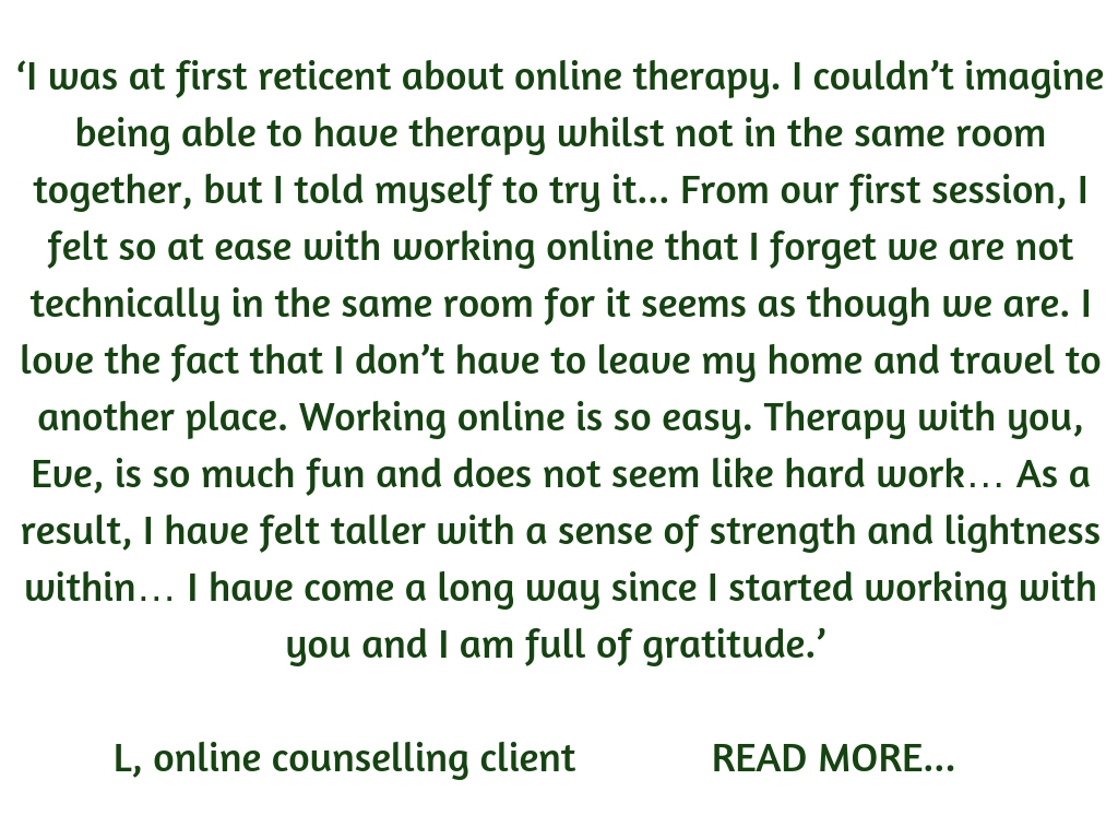 online counselling Eve Menezes Cunningham