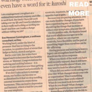 eve menezes cunningham advice columns