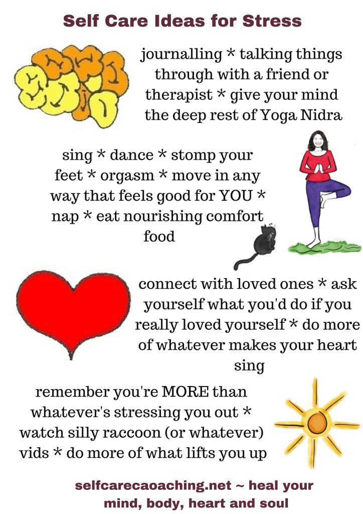 self care ideas for stress from selfcarecoaching