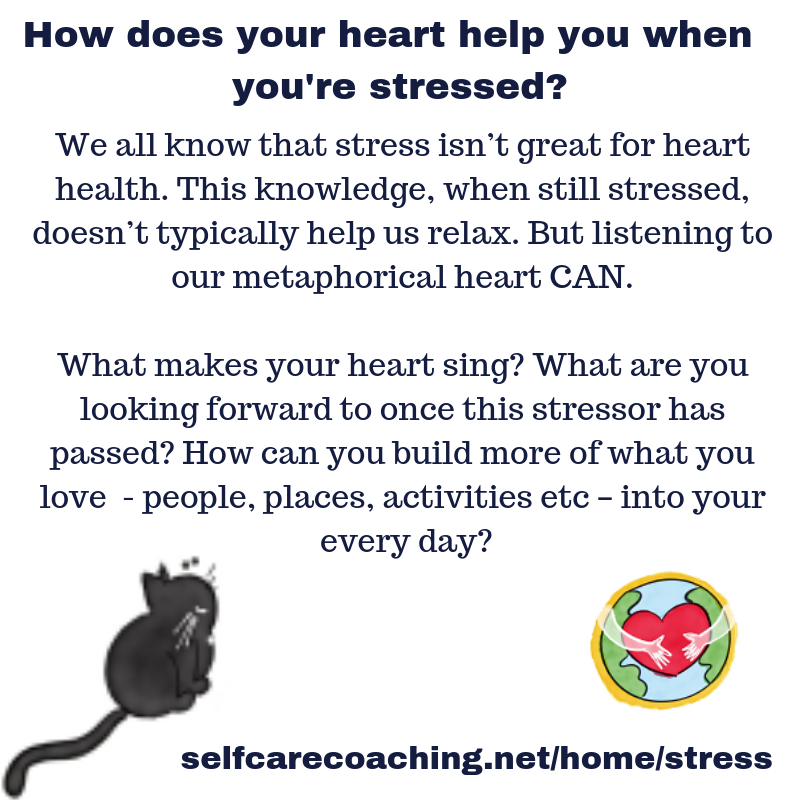 How does your heart help you when you're stressed?