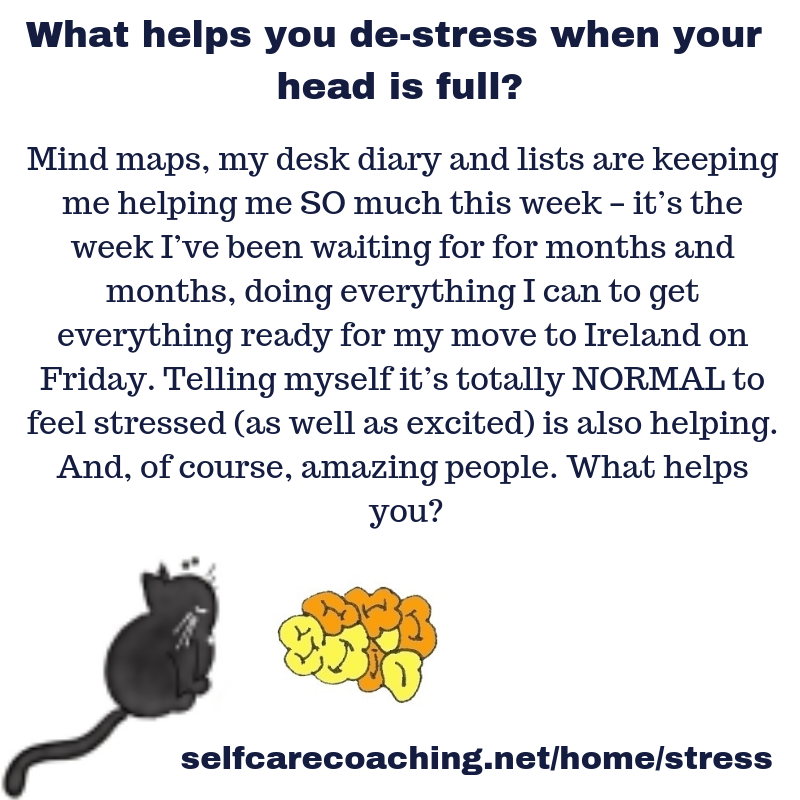 What helps you de-stress when your head is full?