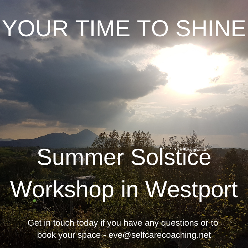 Your Time to Shine Summer Solstice Workshop in Westport