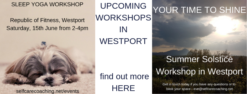 upcoming workshops in Westport Feel Better Every Day with Eve Menezes Cunningham Sleep Yoga and Summer Solstice Your Time to Shine