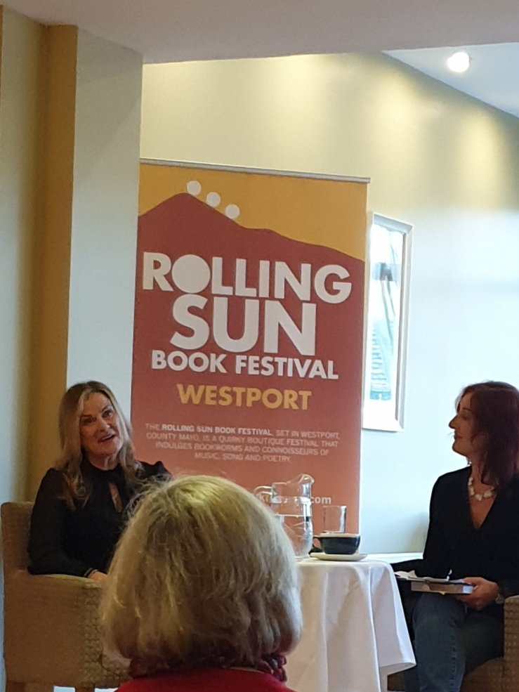 Dr Sabina Brennan (left) at the Rolling Sun Book Festival, Westport, November 2019