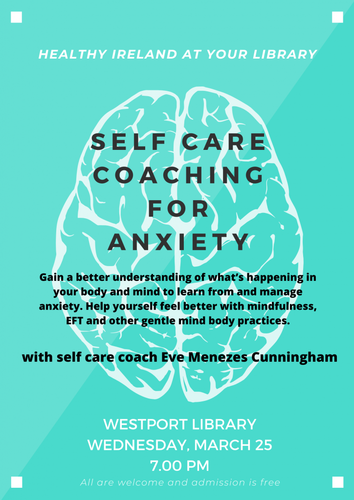 Self Care Coaching for Anxiety at Westport Library with Eve Menezes Cunningham