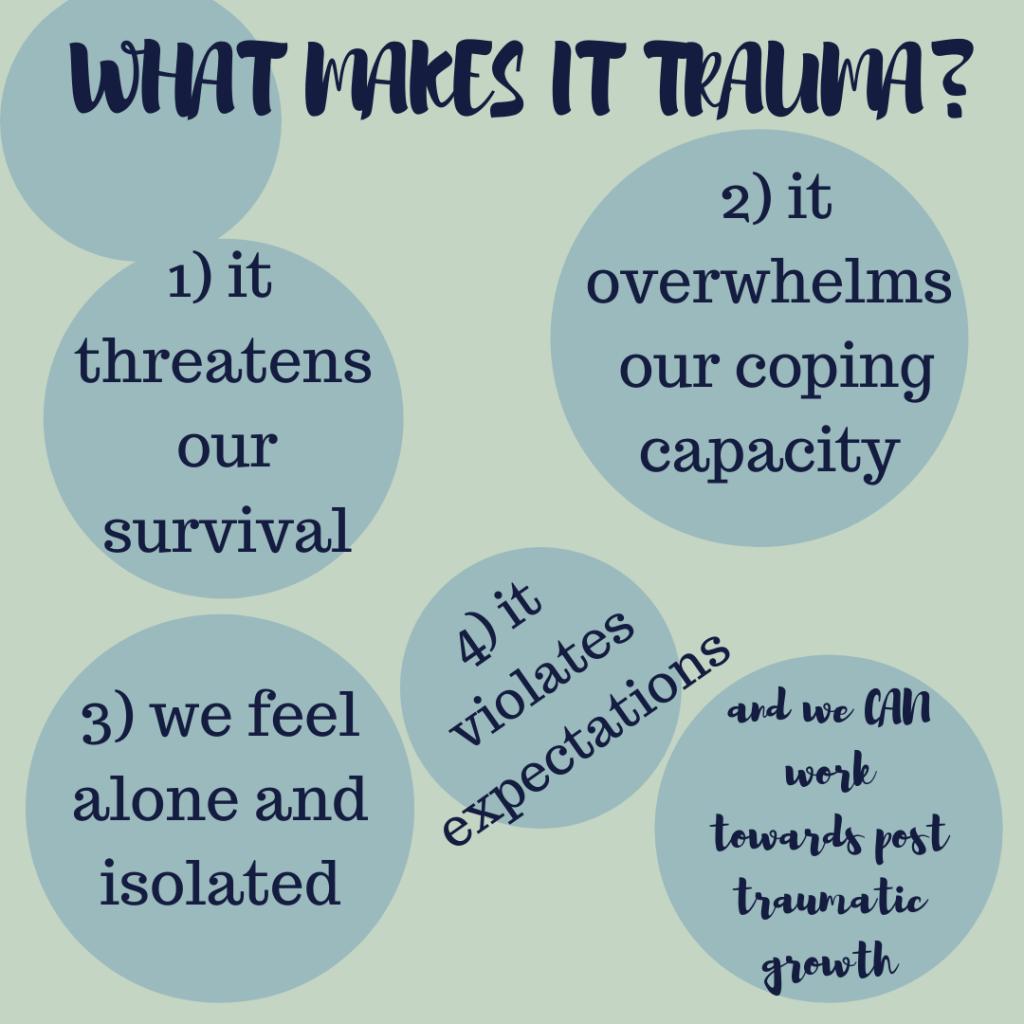 What makes it trauma Work towards post traumatic growth with Eve Menezes Cunningham online trauma therapist