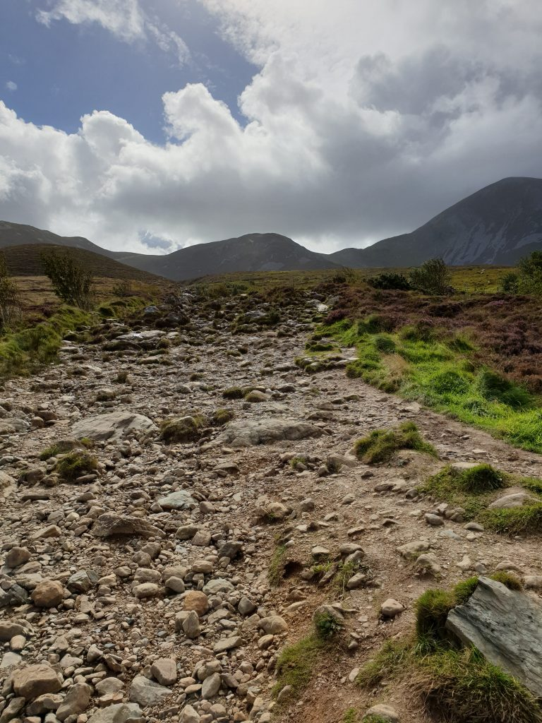 the first bit of the climb up the Reek (aka Croagh Patrick mountain) in Ireland