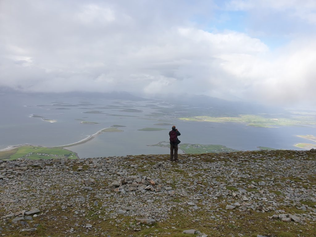 Alan Cunningham at the top of the Reek (aka Croagh Patrick mountain) in Ireland