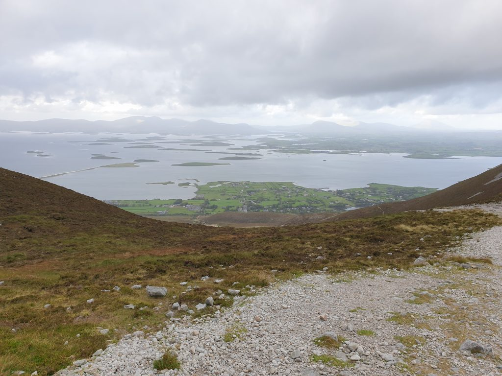 Another view of Clew Bay from the Reek (aka Croagh Patrick mountain) in Ireland