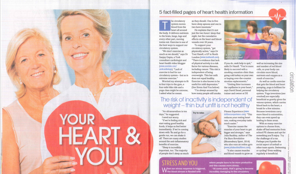 Eve Menezes Cunningham feature about circulatory healthy for My Weekly