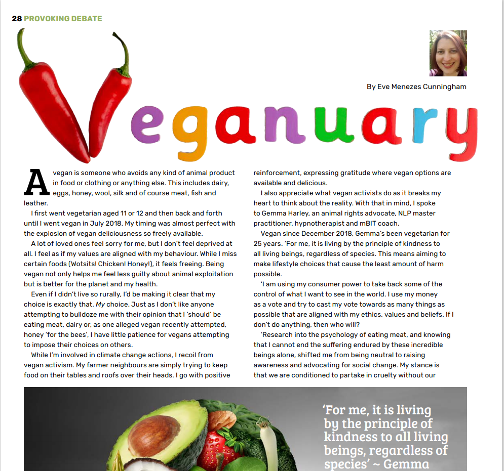 Veganuary feature for Rapport by Eve Menezes Cunningham
