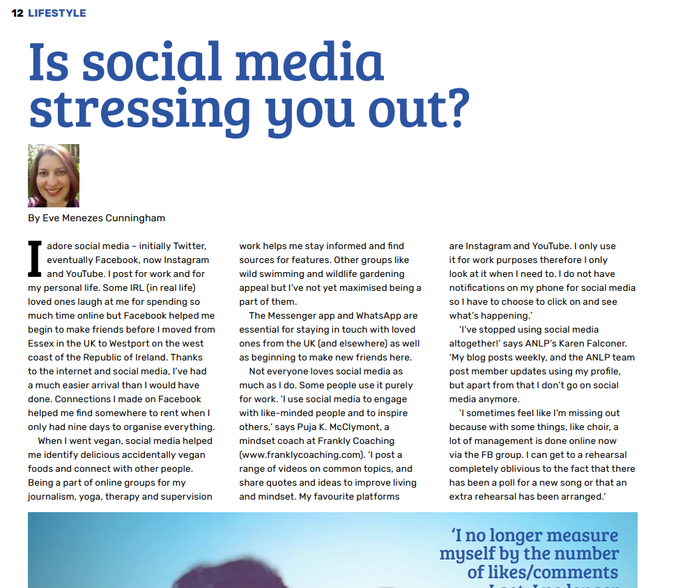 Is social media stressing you out feature by Eve Menezes Cunningham Rapport Winter 2020