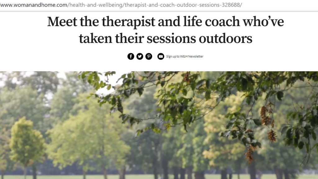 Eve Menezes Cunningham outdoor therapy outdoor coaching Wild therapy outdoor supervision Wild Atlantic Way Ireland in Woman and Home August 2019